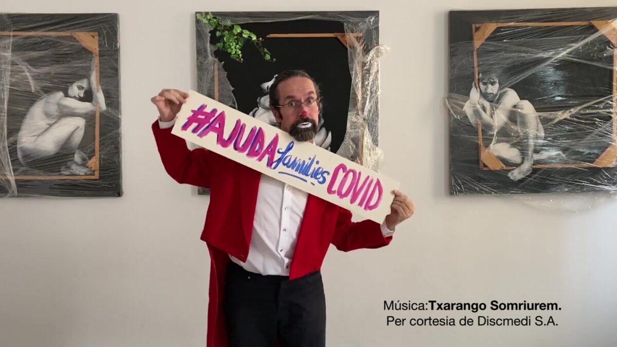 Imatge de la campanya solidària #AJUDAfamíliesxCOVID de les escoles FEDAC