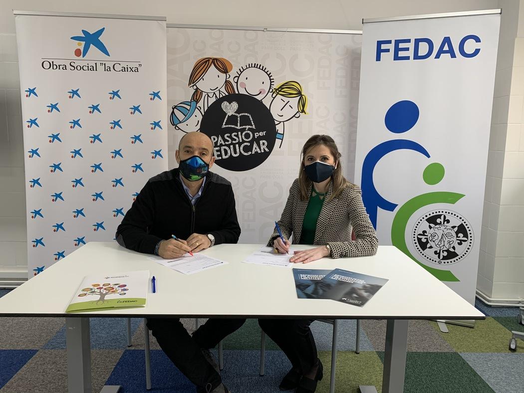 """La Fundació """"la Caixa"""" dona suport a la campanya solidària #AJUDAfamíliesxCOVID de les escoles FEDAC"""
