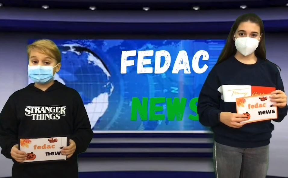 Alumnes de primària de FEDAC Guissona redacten, enregistren, presenten i editen FEDAC News, l'emissió quinzenal amb les notícies més destacades de l'escola.