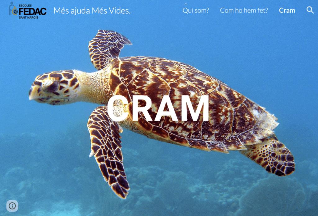 Pàgina web sobre el Projecte CRAM que han creat els alumnes de 6è de primària de l'escola FEDAC Sant Narcís, de Girona.