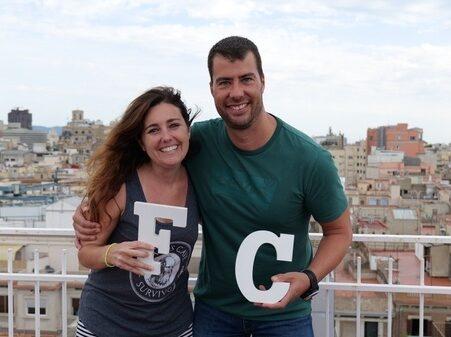 Verónica Castillo i David González, nous membres de l'equip de titularitat de la FEDAC.